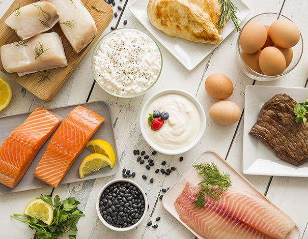 Vitamin B filled foods, salmon, eggs, fish