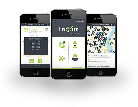 Application mobile Pharmacie Proxim